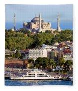 City Of Istanbul Fleece Blanket
