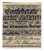 Confederate Banknote Fleece Blanket