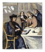 Desiderius Erasmus Fleece Blanket