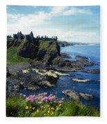 Dunluce Castle, Co Antrim, Ireland Fleece Blanket