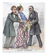 Election Cartoon, 1876 Fleece Blanket