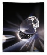 Faceted Quartz Gem Fleece Blanket