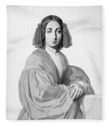 George Sand (1804-1876) Fleece Blanket