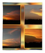 4 In 1 Sunsets Fleece Blanket