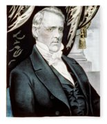 James Buchanan, 15th American President Fleece Blanket