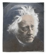 John Herschel, English Polymath Fleece Blanket