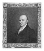 John Quincy Adams Fleece Blanket