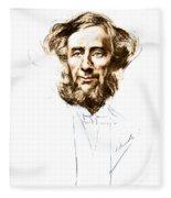 John Tyndall, Irish Physicist Fleece Blanket