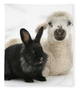 Lamb And Rabbit Fleece Blanket