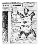 League Of Nations Cartoon Fleece Blanket