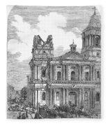 Manila: Earthquake, 1863 Fleece Blanket