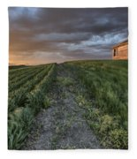 Newly Planted Crop Fleece Blanket