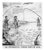 Presidential Campaign, 1848 Fleece Blanket