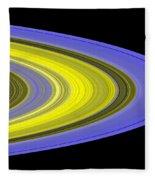 Saturns Rings Fleece Blanket