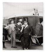 Silent Film: Automobiles Fleece Blanket
