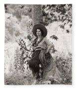 Silent Film Still: Woman Fleece Blanket