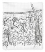 Skin Anatomy Fleece Blanket