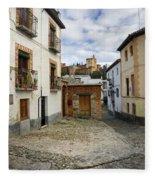 Street In Historic Albaycin In Granada Fleece Blanket