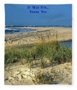 Thank You Fleece Blanket