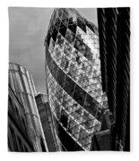 The Gherkin London Fleece Blanket