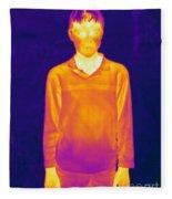 Thermogram Of A Boy Fleece Blanket