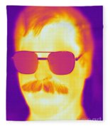 Thermogram Of A Man Fleece Blanket