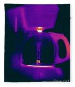 Warming Coffee Machine Fleece Blanket