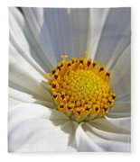 White Cosmos Fleece Blanket