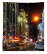 42nd Street Nyc 3.0 Fleece Blanket