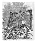 Great Railroad Strike, 1877 Fleece Blanket