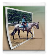 4h Horse Competition Fleece Blanket