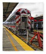 4th And King St. Caltrains Station - San Francisco Fleece Blanket