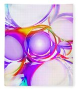 Abstract Of Circle  Fleece Blanket