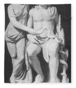 Aesculapius, Greek God Of Medicine Fleece Blanket