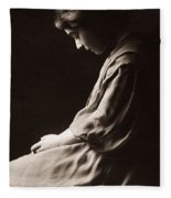 Alla Nazimova (1879-1945) Fleece Blanket