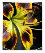 Asiatic Lily Named Black-eyed Cindy Fleece Blanket