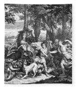 Atalanta And Meleager Fleece Blanket