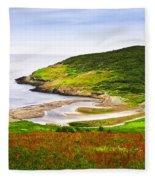 Atlantic Coast In Newfoundland Fleece Blanket