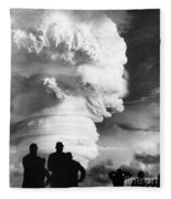 Atomic Bomb Explosion Fleece Blanket