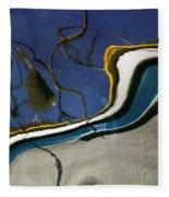 Boat Reflections At Sea Fleece Blanket
