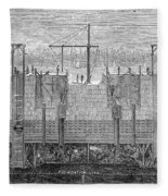 Brooklyn Bridge, 1870 Fleece Blanket