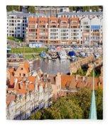 City Of Gdansk In Poland Fleece Blanket