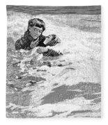 Dakota Blizzard, 1888 Fleece Blanket