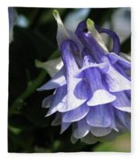 Double Columbine Named Light Blue Fleece Blanket