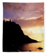 Dunluce Castle, Co Antrim, Ireland Fleece Blanket