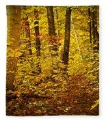 Fall Forest Fleece Blanket
