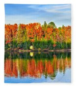 Fall Forest Reflections Fleece Blanket