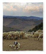 Flock Of Sheep Fleece Blanket