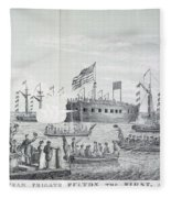 Fulton Steam Frigate, 1814 Fleece Blanket