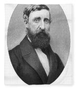 Henry David Thoreau Fleece Blanket
